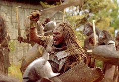 Uruk-hai battle for blood in New Line's The Lord of The Rings: The Fellowship of The Ring - 2001
