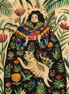 I'm captivatedby the way Romanian artist Aitch toggles between darkness and joyfulness in her illustrations. Not only have designers and brands like L'Occitane commissioned her folk-inspired work, the self proclaimed nomad has created works for wedding invitations, playing cards, and her own