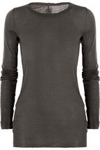 So apparently we have surpassed the $100 tshirts and moved on to the $300 and over tshirts. Granted, Rick Owens is high end and you will look like a rock star...but $325 for what is basically a long sleeved tshirt.  and it sells out immediately.  geesh.   Rick Owens|Cotton-jersey top|NET-A-PORTER.COM