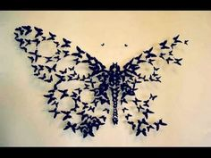 DIY: Big Butterfly Wall Decor | Wall Decor IDea - YouTube