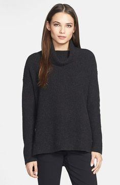 Eileen Fisher Merino & Yak Wool Turtleneck Sweater (Regular & Petite) | Nordstrom Sport Fashion, Eileen Fisher, Rib Knit, Turtleneck, Knitwear, Cool Style, Personal Style, Nordstrom, Wool