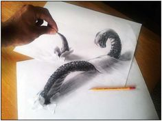 Incredible and Scary 3D Pencil Drawings by Ramon Bruin