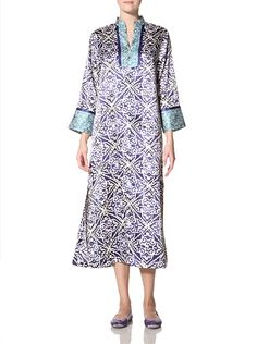 Oscar de la Renta Women's Jewel Mosaic Printed Charmeuse Caftan at MYHABIT