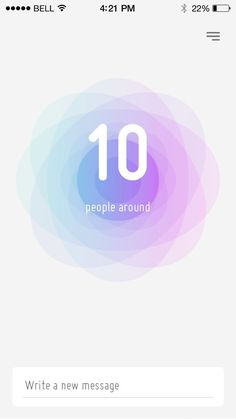 Nod app — anonymous proximity messenger