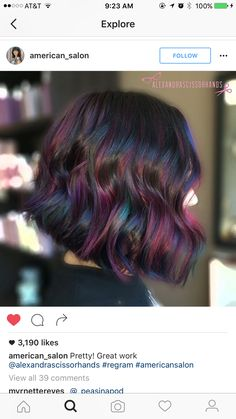 Opal oil slick hair color OMG in my dreams! Ombré Hair, Hair Dos, Dream Hair, Hair Today, Gorgeous Hair, Pretty Hairstyles, Latest Hairstyles, Hair Hacks, Hair Inspiration