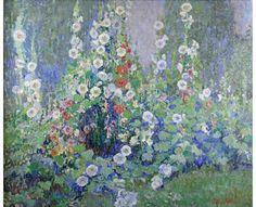 """Carl C. Graf """"Hollyhock Garden"""""""