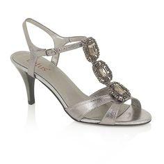 Lotus Sharifa Pewter & Gemstone Encrusted Shoes
