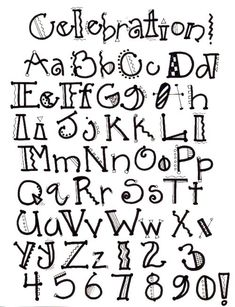 creative handwritten alphabet letters - Yahoo Image Search Results