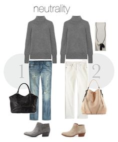 Great neutral palette transition into fall outfits for women over 40
