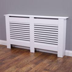 Radiator Cover Medium - White Horizontal Style