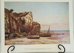Vintage Beach in Normandy by Gustave Courbet Print from National Gallery of Art