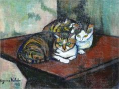 Two cats by Suzanne Valadon, c. 1918