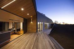 terrasse de nuit - Valley House par Philip M Dingemanse - Launceston, Australie