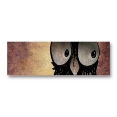 Funny Owl Business Card Templates from StrangeStore #owls #strangestore