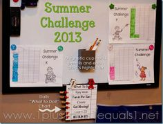 Summer Challenge & Routine 2013 from 1+1+1=1