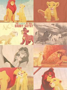 """""""Okay, I have to tell her today. Oh, where do I start? 'Kiara, Zira had a plot, and I was part of it, but I don't want to be...because...It's because I love you'"""" -- Kovu"""