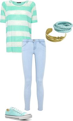 """casual mint"" by caitlynranae on Polyvore"