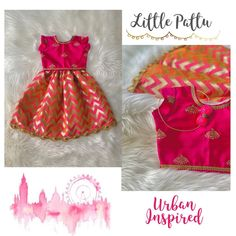 For those who don't know every outfit is ONE OF A KIND at Little Pattu. We are thrilled to share this stunning Chevron set. Kids Dress Wear, Kids Gown, Little Girl Dresses, Kids Wear, Baby Girl Dress Design, Girls Frock Design, Baby Frocks Designs, Kids Frocks Design, Cotton Frocks For Kids