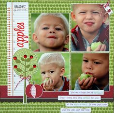 boy layout can make a Johnny Apple seed page from this idea