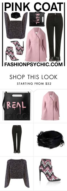 """""""Pink Coat"""" by fashionpsychic on Polyvore featuring Gucci, Delpozo, Topshop, Dries Van Noten, Coast, Giambattista Valli and pinkcoats"""