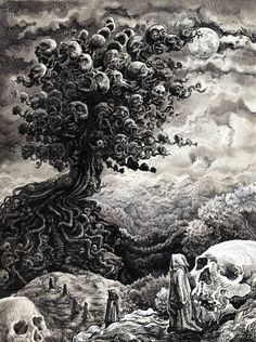 Foreign Land by on DeviantArt Creepy Images, Creepy Art, Arte Horror, Horror Art, Arte Indie, Dark Souls Art, Dark Art Illustrations, Satanic Art, Dark Artwork