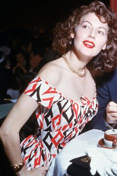 Ava Gardner ~ at Ciro's nightclub, West Hollywood, California (photo by Gene Lester, 1950)