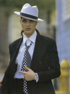 "Brooke Shields by Miseki Liu for the Japan-only photo book ""Secrets,"" Brooke Shields Young, Dapper Suits, Le Smoking, Vintage Beauty, Vintage Fashion, Women's Fashion, Pretty Baby, Suits For Women, Style Me"