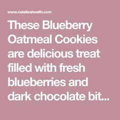These Blueberry Oatmeal Cookies are delicious treat filled with fresh blueberries and dark chocolate bits. Perfect breakfast, snack, easy dessert. Oatmeal Blueberry Muffins Healthy, Healthy Muffins, Blue Berry Muffins, Perfect Breakfast, Blueberries, Easy Desserts, Yummy Treats, Deserts, Snacks