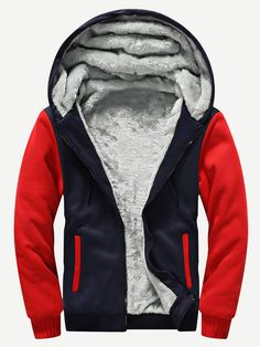 Children Fleece Jacket Winter Warm Windproof Outerwear Coat Hooded Zip Cardigan Fashion Color Mixing Casual Polar Fleece Hoodies