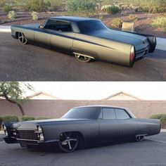 Cool paint.  MURDERED OUT Cadillac Coupe Deville 1965 Lowrider