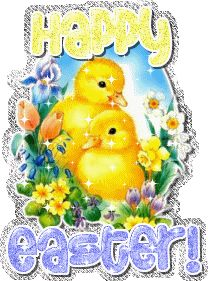 Happy Easter With Birds Graphic
