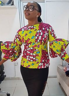 Beautiful ankara dress top, African fashion, Ankara, kitenge, African women dresses, African prints, African men's fashion, Nigerian style, Ghanaian fashion, ntoma, kente styles, African fashion dresses, aso ebi styles, gele, duku, khanga, krobo beads, xhosa fashion, agbada, west african kaftan