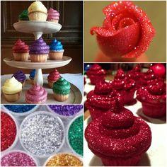 How to DIY Edible Glitter Frosting Cupcakes   www.FabArtDIY.com LIKE Us on Facebook ==> https://www.facebook.com/FabArtDIY