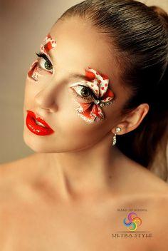 Unique Makeup, Beautiful Eye Makeup, Creative Makeup, Mask Makeup, Makeup Art, Beauty Makeup, Fairy Makeup, Mermaid Makeup, Crazy Makeup