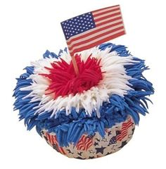 Fourth of July Flag Cupcake