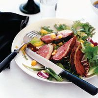 Grilled Sesame-Marinated Duck Breasts with Hoisin Sauce