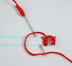 big B: 100 Stitches rosette chain stitch