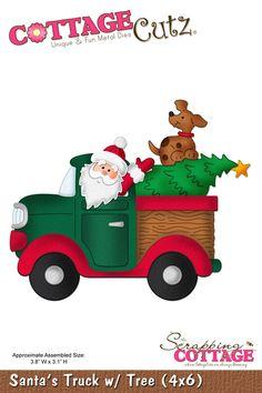 CottageCutz Santa's Truck w/ Tree (4x6)