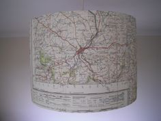 Vintage Map Lampshade £35.00