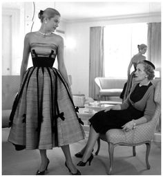 Grace Kelly with her mother,1950's