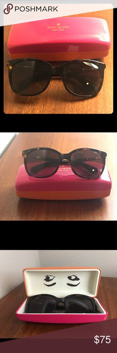 Kate Spade Julieanna plastic retro sunglasses Dark Havana gold and brown Kate Spade sunglasses. Brand new, never worn, with adorable case and cleaning cloth. kate spade Accessories Sunglasses