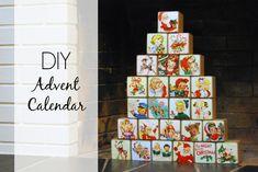 DIY Vintage Advent Calendar