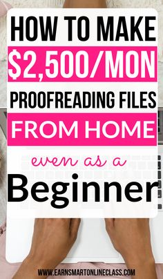Need proofreading jobs from home? Find out how to get proofreading jobs for beginners at ProofreadingServi. No experience needed! by EarnSmartOnlineClass Read Online Surveys For Money, Online Jobs From Home, Earn Money From Home, Earn Money Online, Way To Make Money, Legit Work From Home, Work From Home Tips, Transcription Jobs For Beginners, Work From Home Opportunities