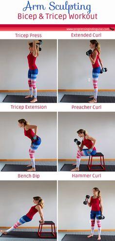 Arm workout women, home workout, arm workout with weights, workout with weights, bicep and tricep workout, tricep workout women, tricep workout at home, arm workout at home, arm workout at gym, upper body workout #homeworkout #girlswholift #strengthtraining #weightlifting Tricep Workout With Dumbbells, Bicep And Tricep Workout, Biceps And Triceps, Dumbbell Workout, Workout Abs, Arm Workout Women No Equipment, Arm Workout Women With Weights, Weights Women, Arm Exercises With Weights