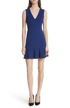 ALICE AND OLIVIA ONELLA PEPLUM HEM FIT & FLARE DRESS. #aliceandolivia #cloth #