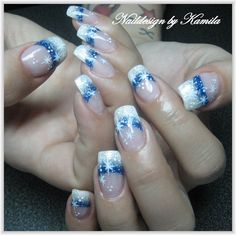 Winter French Nails