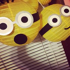 Minion lanterns / decorations by YrsYpartydecor on Etsy