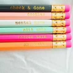 Great idea for pencils/pens; Bible quotes or phrases would look great with bright colors and patterns