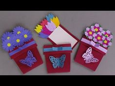 DIY FLOWER POT CARD / HANDMADE GREETING CARD MAKING IDEAS - YouTube