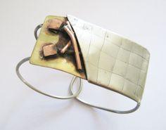 Funky bracelet  Christmas gift  alpaca silver by PikipokaJewelry